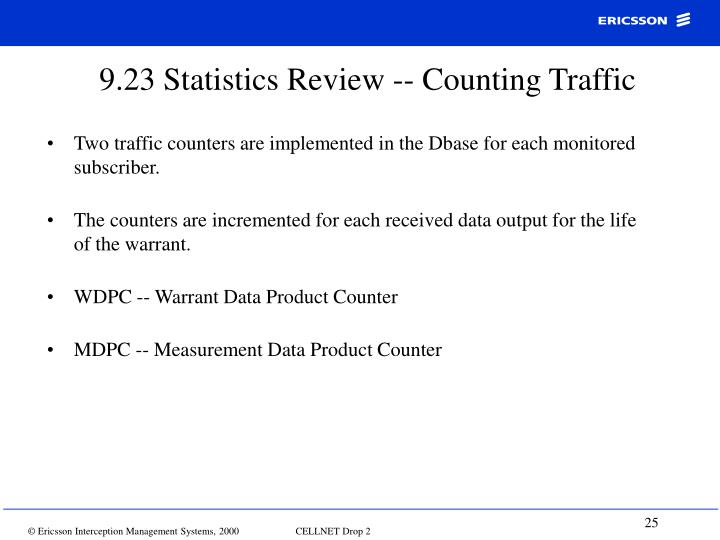 9.23 Statistics Review -- Counting Traffic