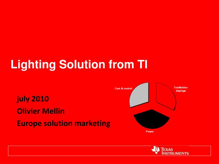 lighting solution from ti n.