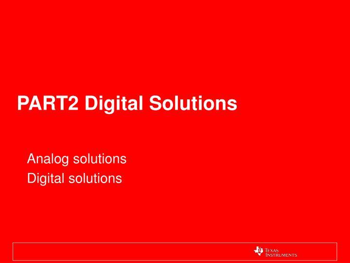 PART2 Digital Solutions