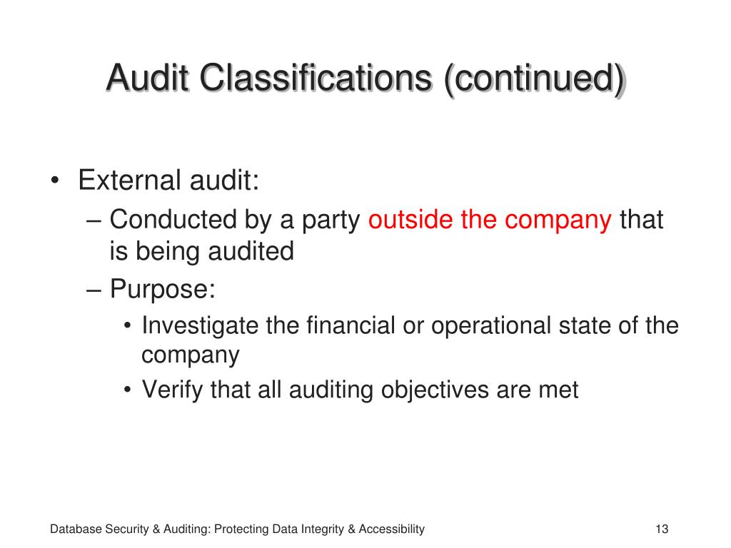 PPT - Database Security and Auditing: Protecting Data