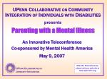 an innovative teleconference co sponsored by mental health america may 9 2007