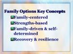 family options key concepts