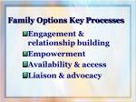 family options key processes
