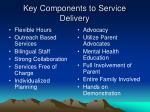 key components to service delivery