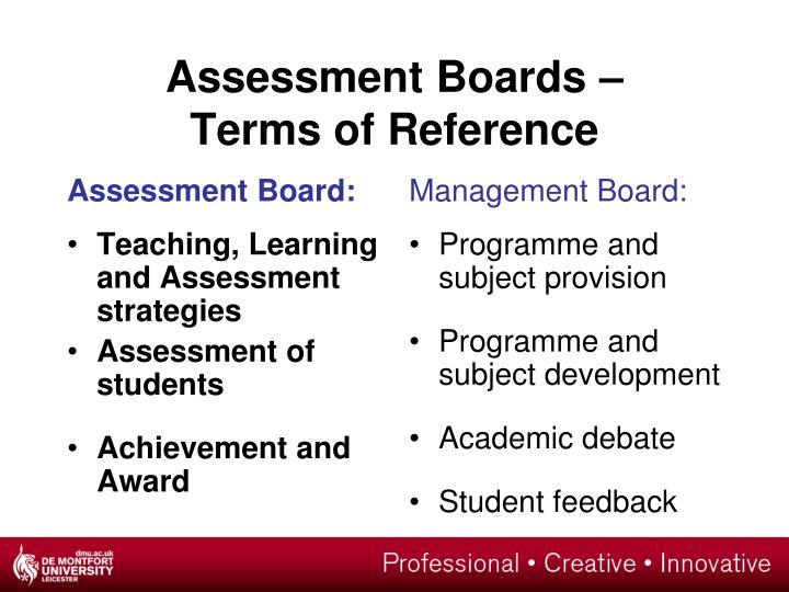 Assessment Board: