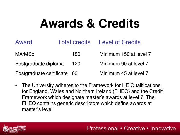 Awards & Credits