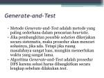 generate and test