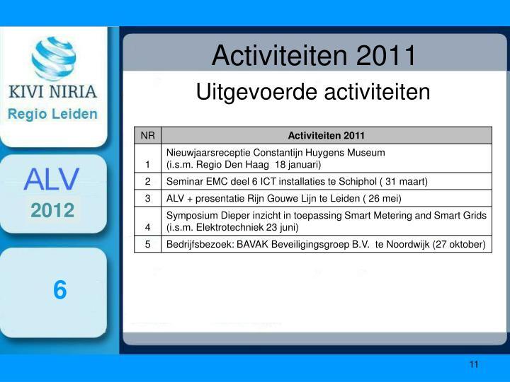 Activiteiten 2011