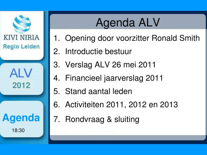 Agenda alv