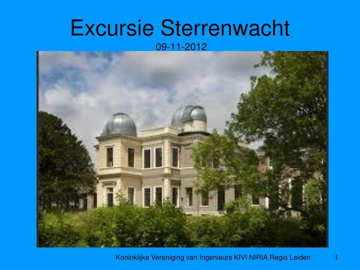 Excursie sterrenwacht 09 11 2012