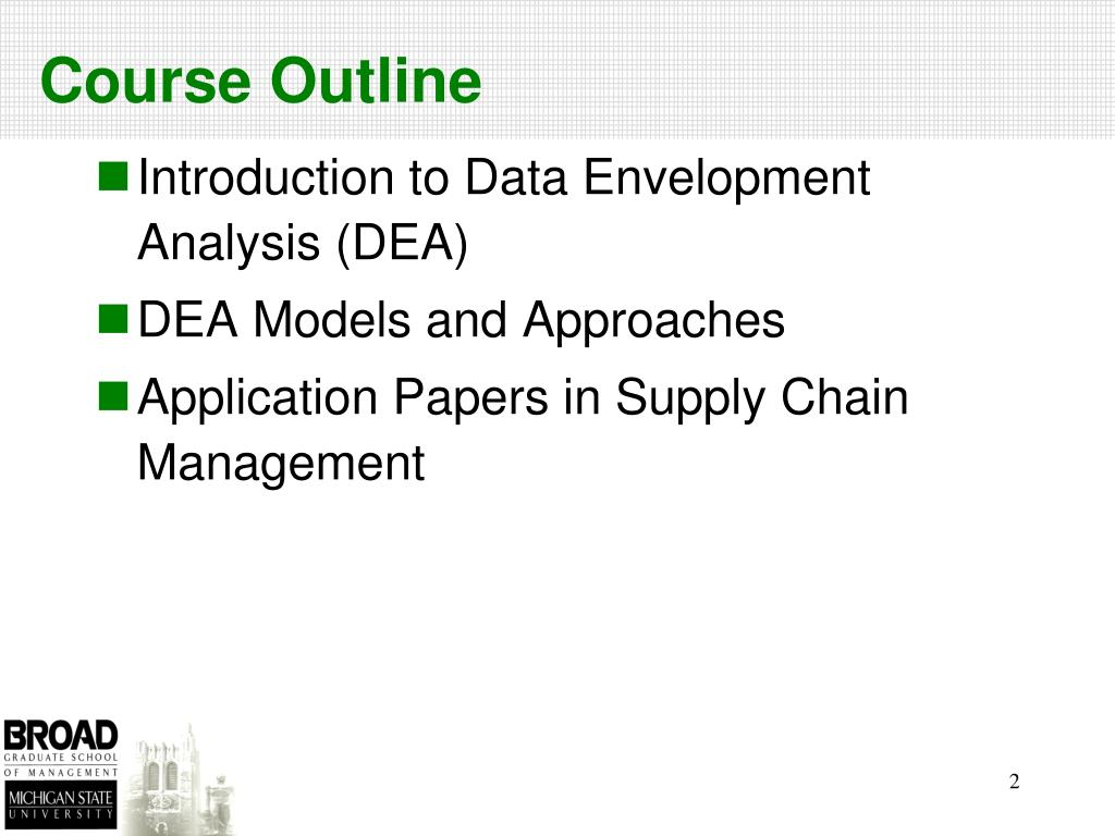 PPT - DEA Based Approaches and Their Applications in Supply