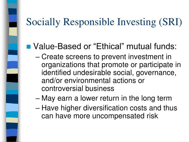 socially responsible investing sri n.