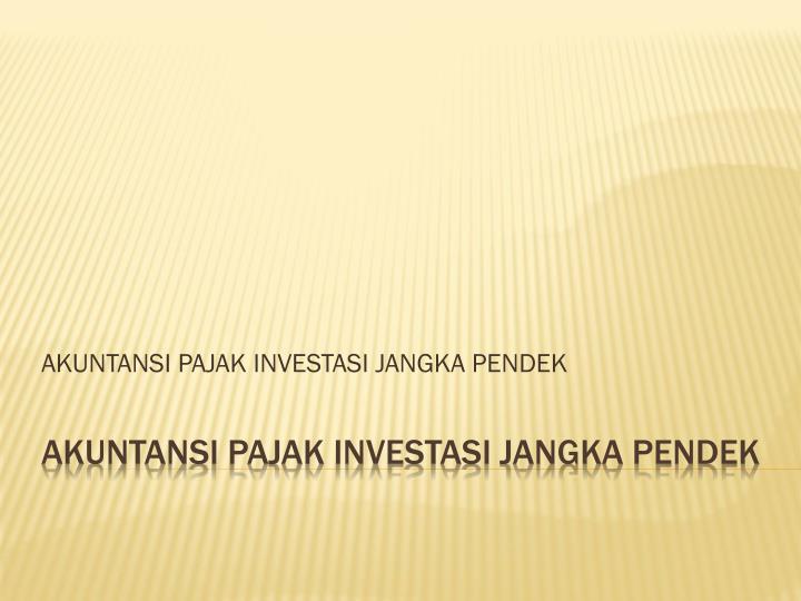 akuntansi pajak investasi jangka pendek n.