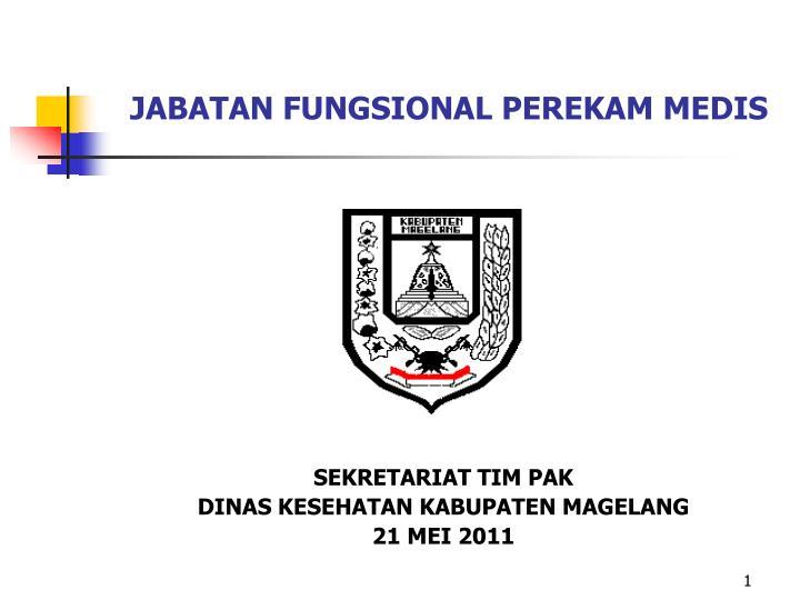 jabatan fungsional perekam medis n.