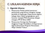 c usulan agenda kerja
