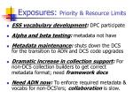 exposures priority resource limits