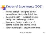 design of experiments doe