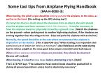 some taxi tips from airplane flying handbook faa h 8083 3
