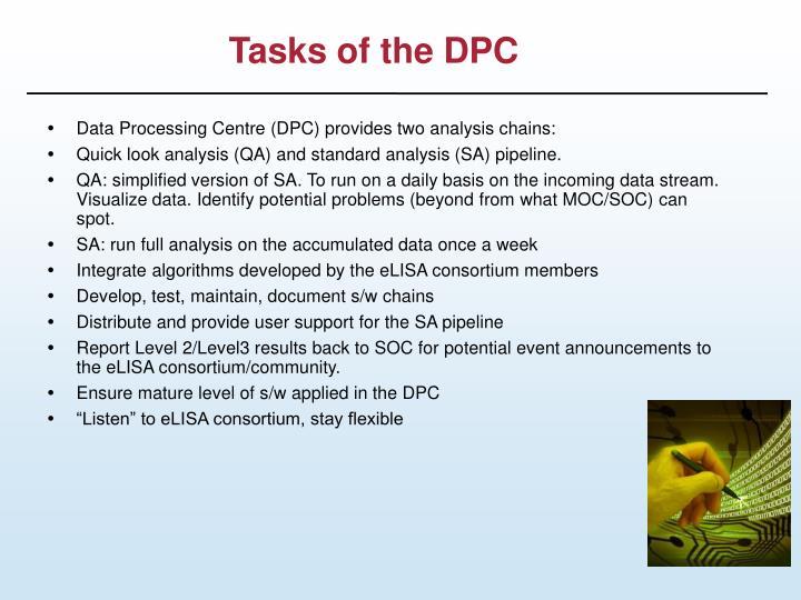 Tasks of the DPC