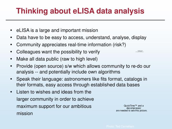 Thinking about elisa data analysis