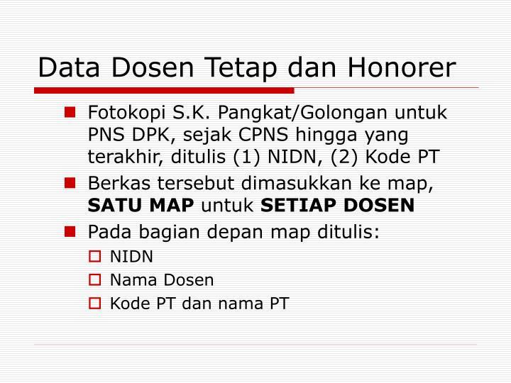 Data Dosen Tetap dan Honorer