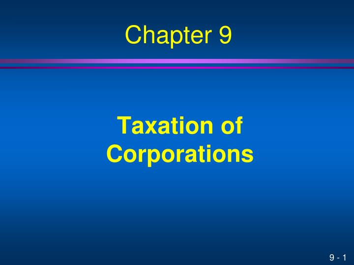 taxation of corporations n.