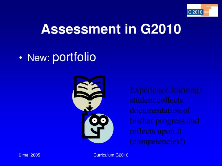 Assessment in G2010