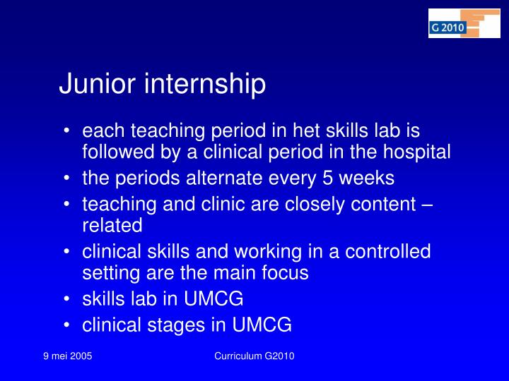 Junior internship