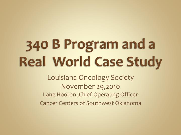340 b program and a real world case study n.