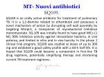 mt nuovi antibiotici sq109