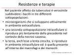 resistenze e terapie