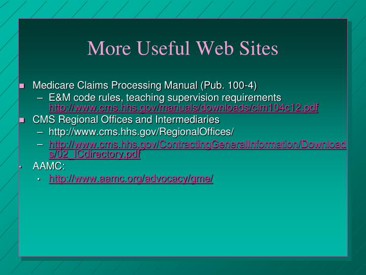 More Useful Web Sites