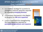 apsed approach to address capacities one framework 3 in 1