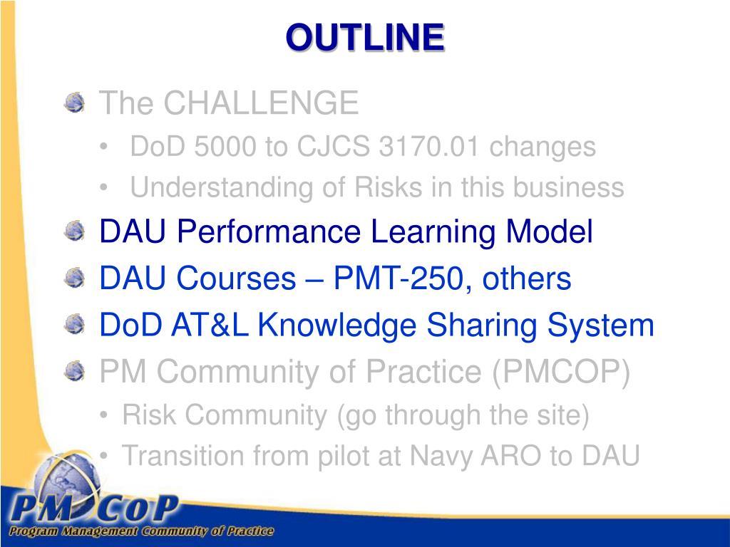 dau partnership aro ppt navy powerpoint presentation dawia certification level learning performance cjcs