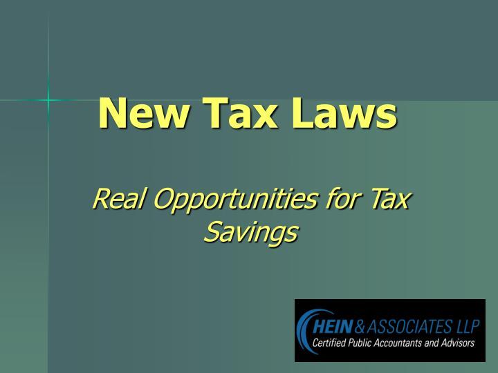 new tax laws n.