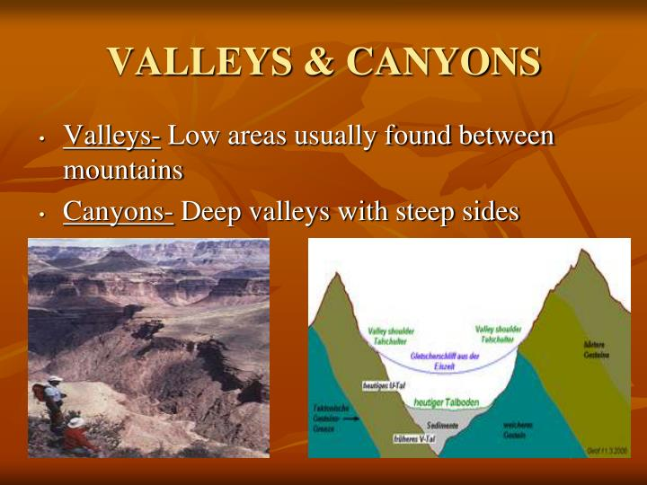 VALLEYS & CANYONS