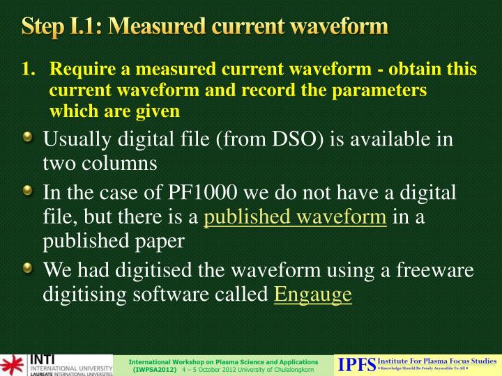 Step I.1: Measured current waveform