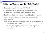 effect of noise on dsb sc am