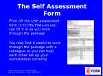 the self assessment form