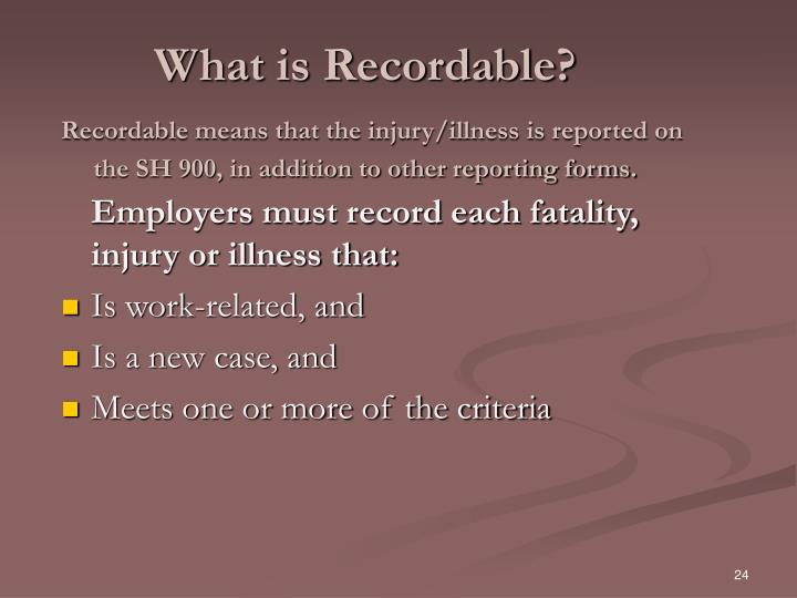 What is Recordable?