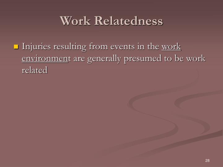 Work Relatedness