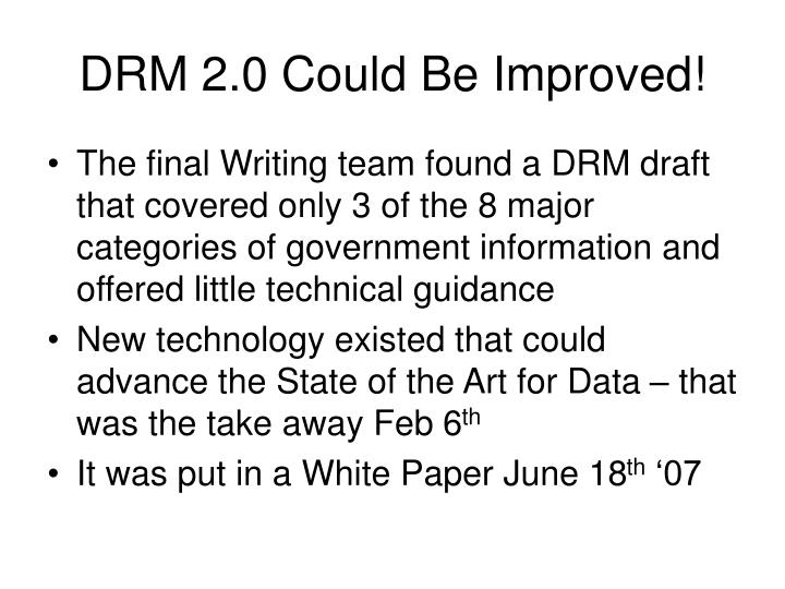 DRM 2.0 Could Be Improved!