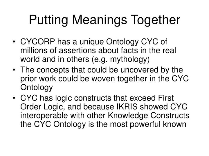 Putting Meanings Together