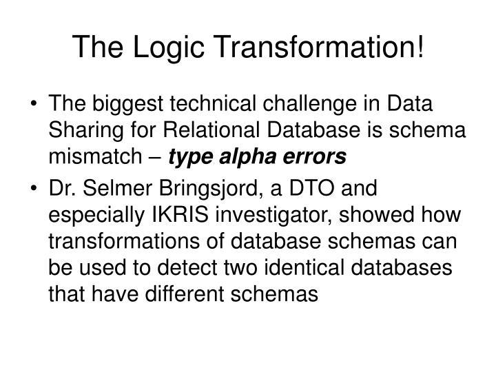 The Logic Transformation!
