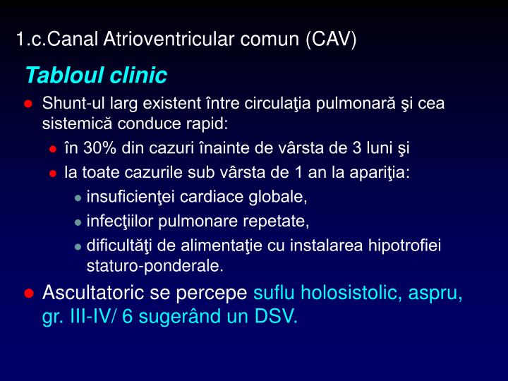 1.c.Canal Atrioventricular comun (CAV)