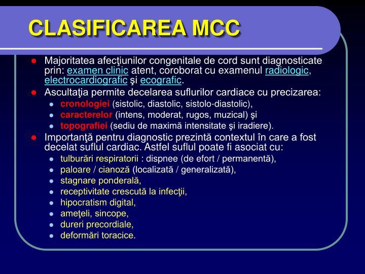 CLASIFICAREA MCC