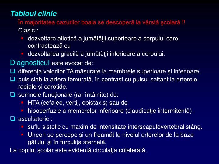 Tabloul clinic