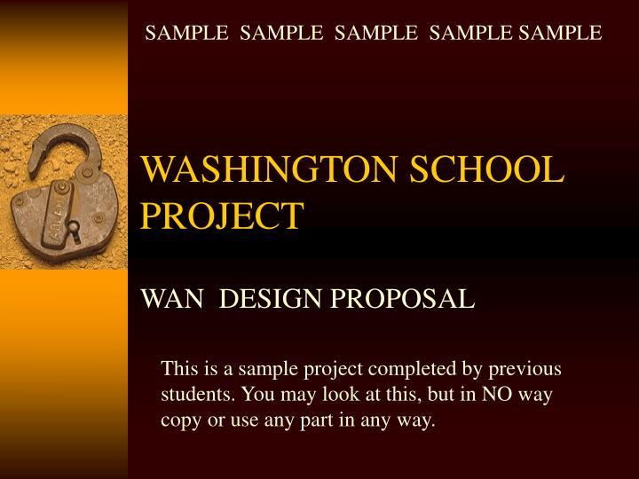 washington school project n.