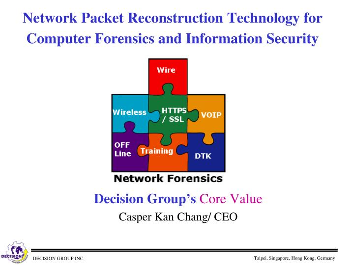 network packet reconstruction technology for computer forensics and information security n.