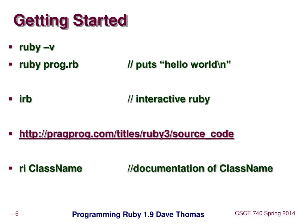 PPT - Ruby and the tools PowerPoint Presentation - ID:3287341